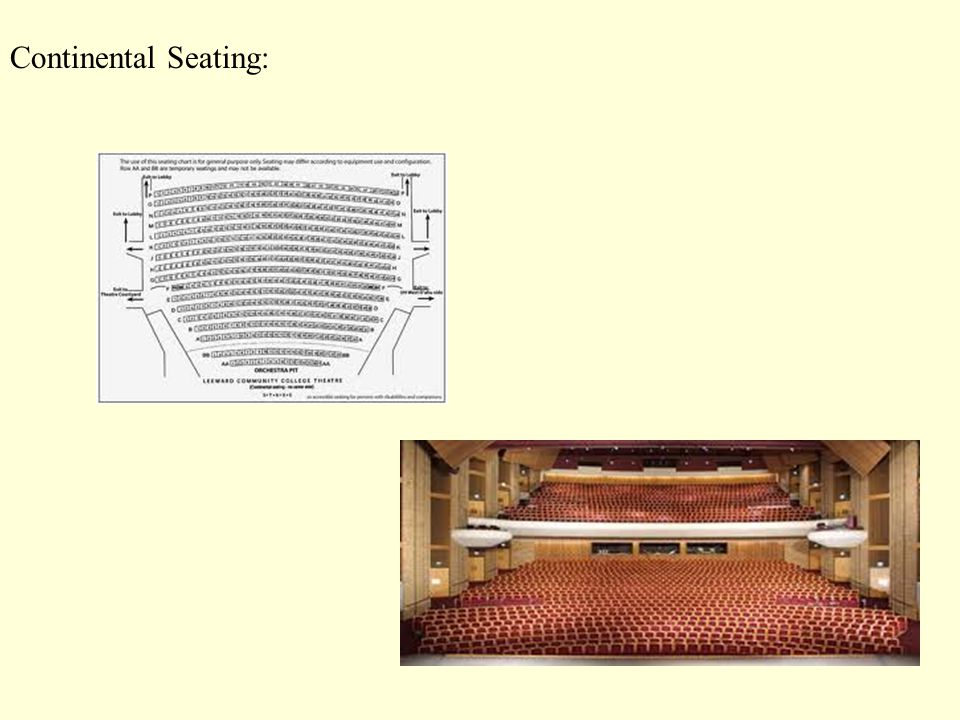 Continental Seating: