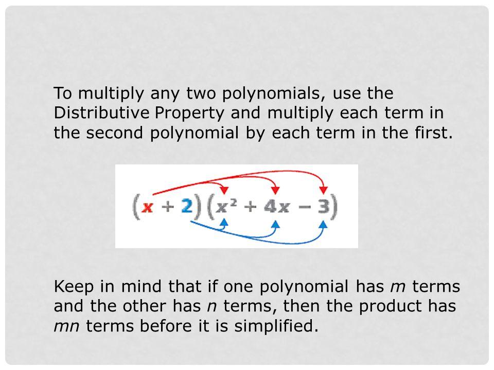 (y 2 – 7y + 5)(y 2 – y – 3) Find the product.