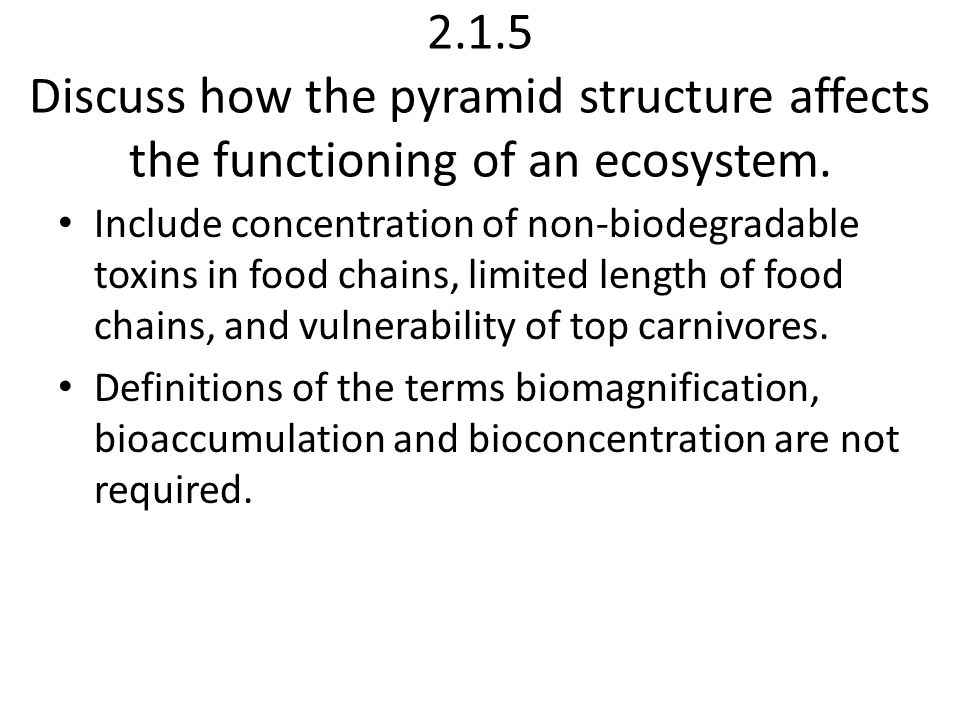 2.1.6 Define the terms species, population, habitat, niche, community and ecosystem with reference to local examples.