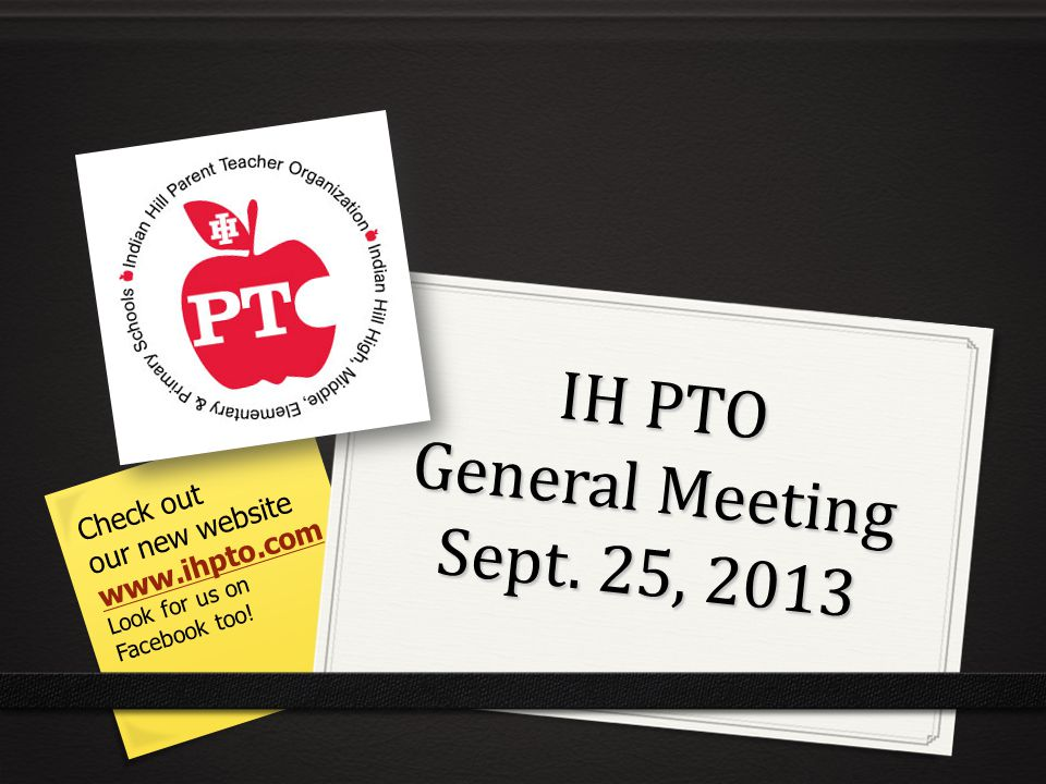 IH PTO General Meeting Sept.