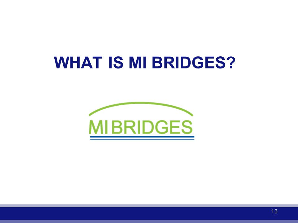 WHAT IS MI BRIDGES? 13