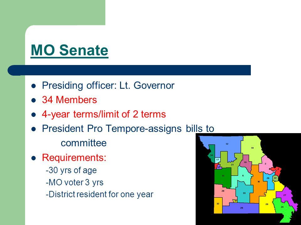 MO Senate Presiding officer: Lt.