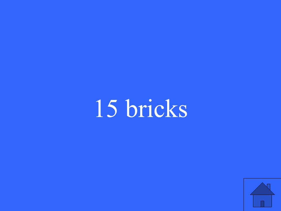 15 bricks