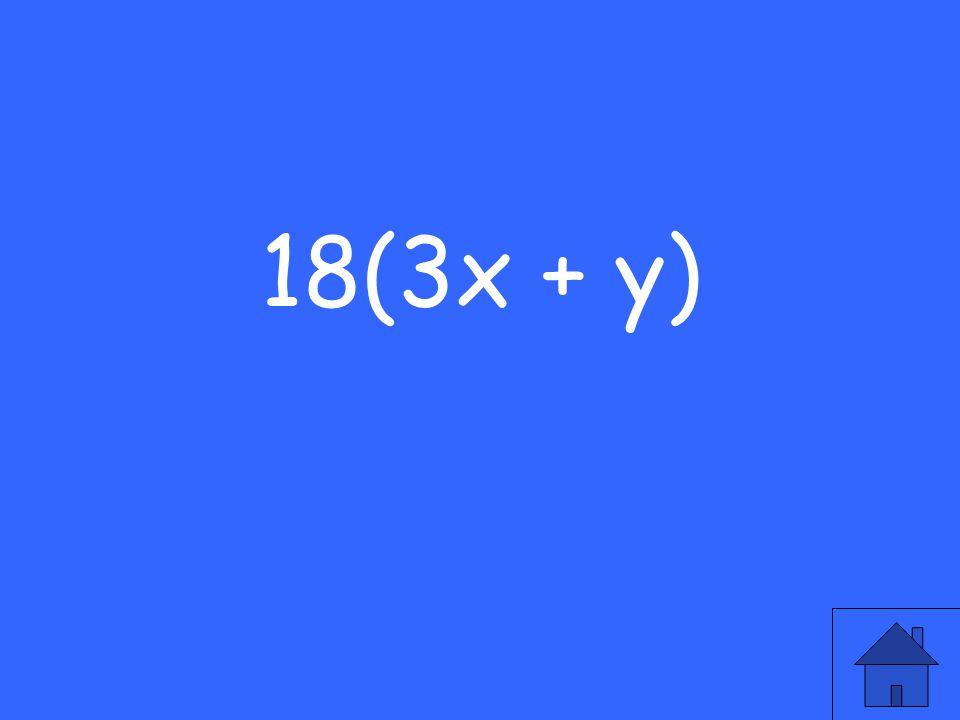 18(3x + y)