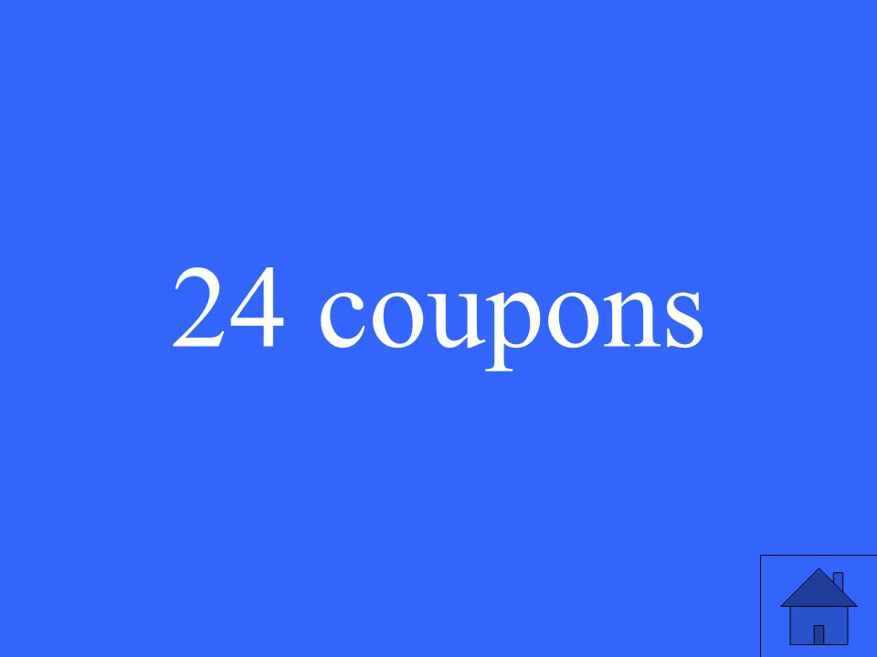 24 coupons