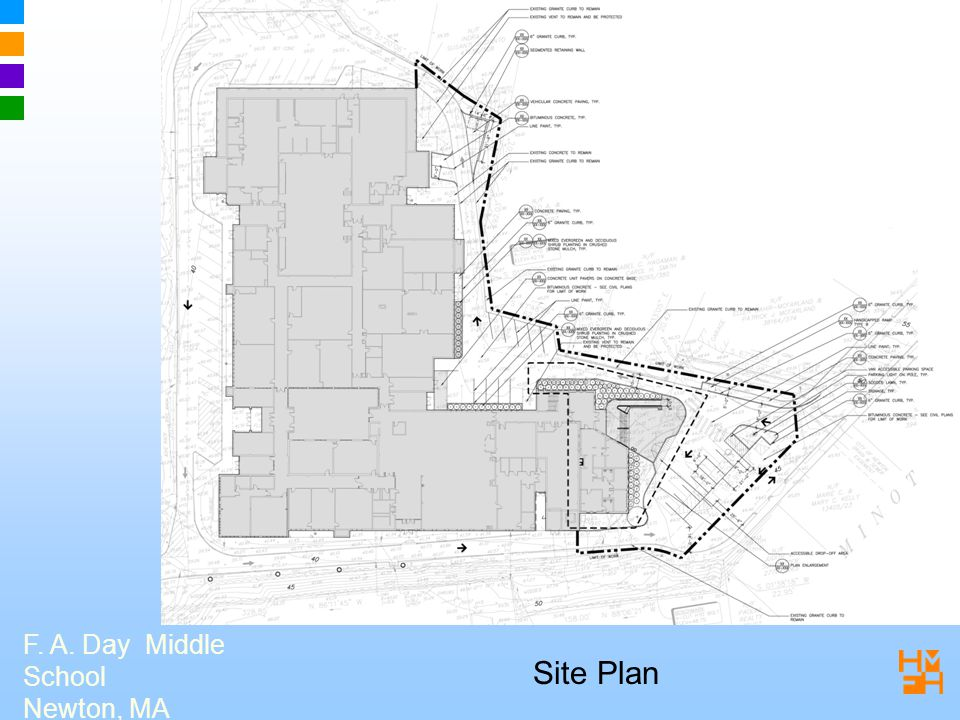 F. A. Day Middle School Newton, MA Site Plan