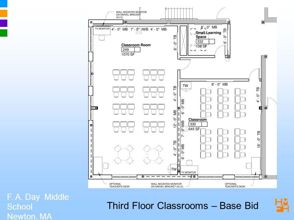 F. A. Day Middle School Newton, MA Third Floor Classrooms – Base Bid