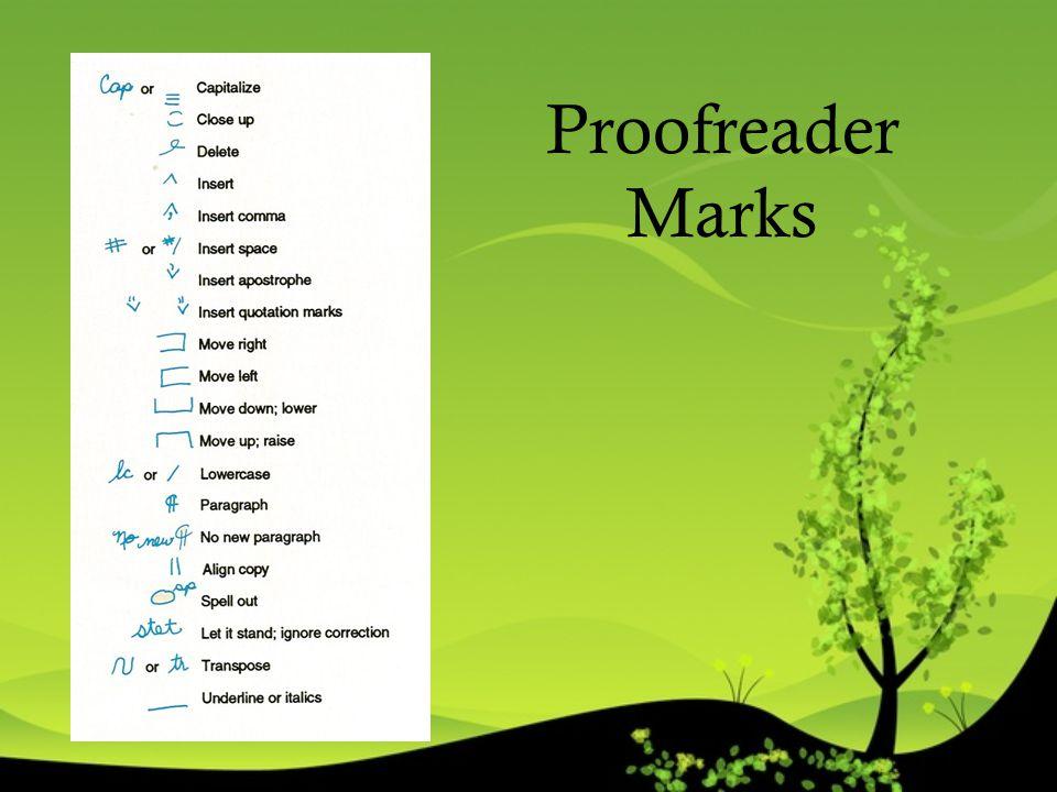 Proofreader Marks