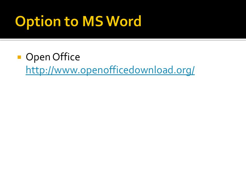  Open Office http://www.openofficedownload.org/