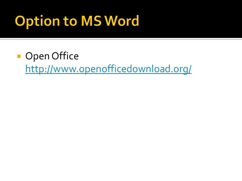  Open Office http://www.openofficedownload.org/