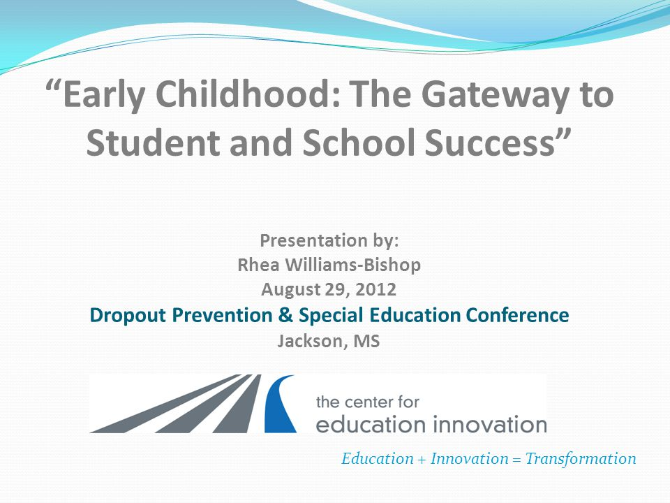 Presentation Overview Vision and Mission of MSCEI MSCEI's Work in Early Education Early Childhood Development and Learning ECE 101 Using Title I to Finance Early Childhood Programs Q and A