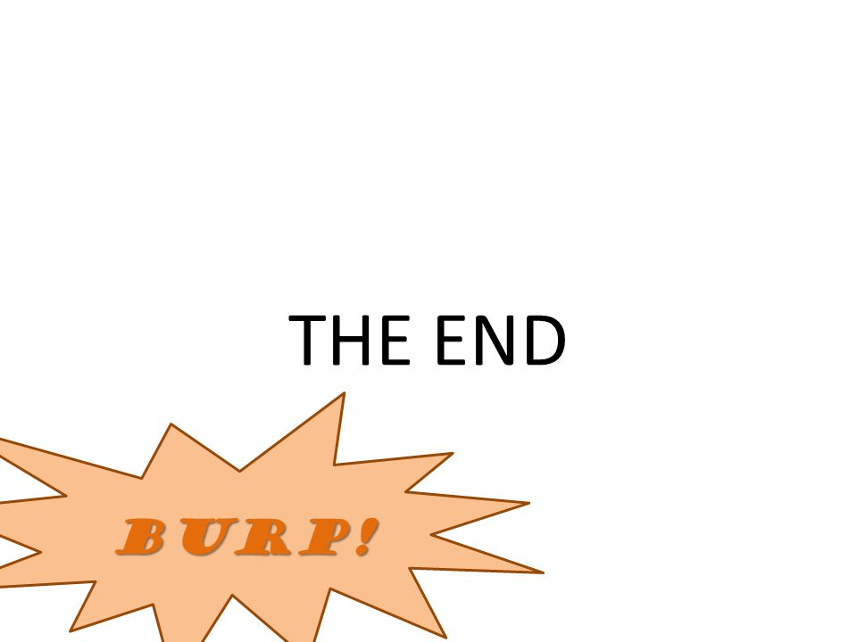 THE END BURP!