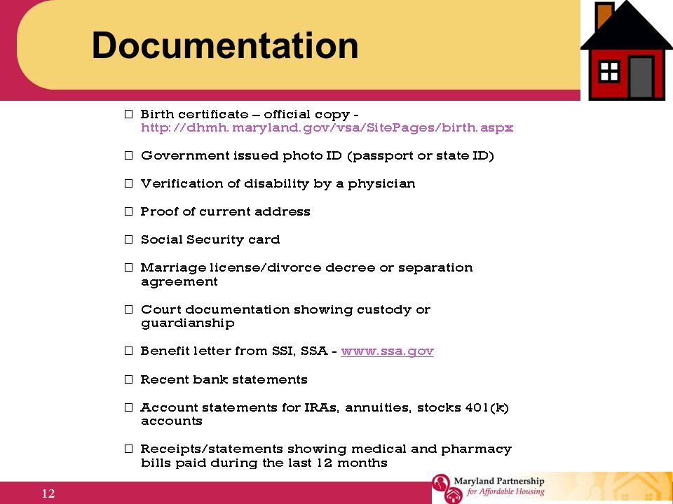 Documentation 12