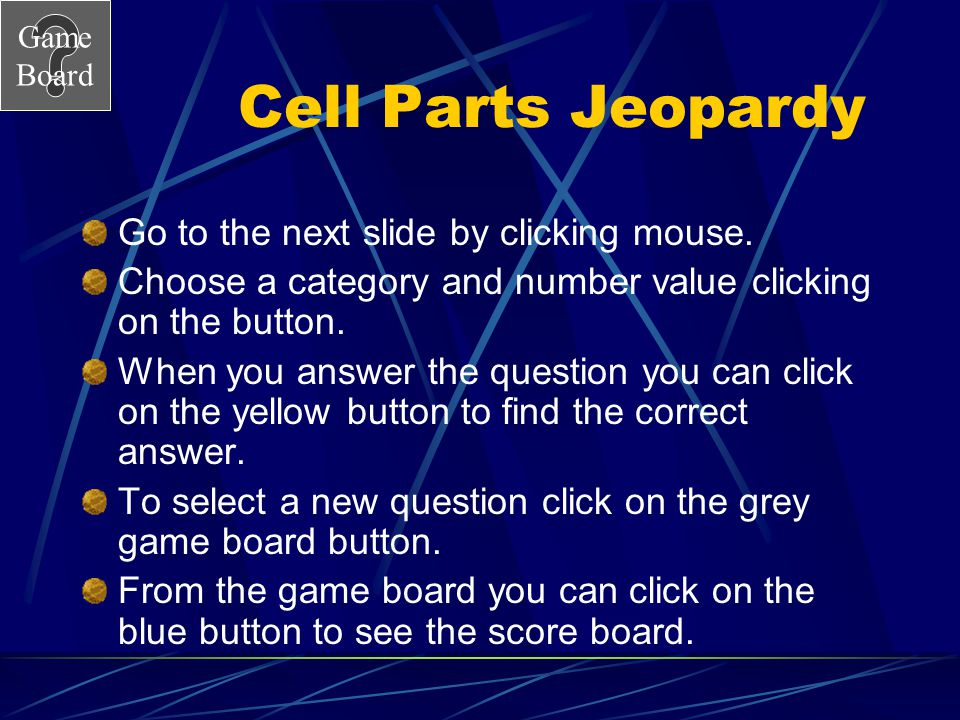 Game Board What's the difference? 500A Bacteria < Animal cell < Plant cell