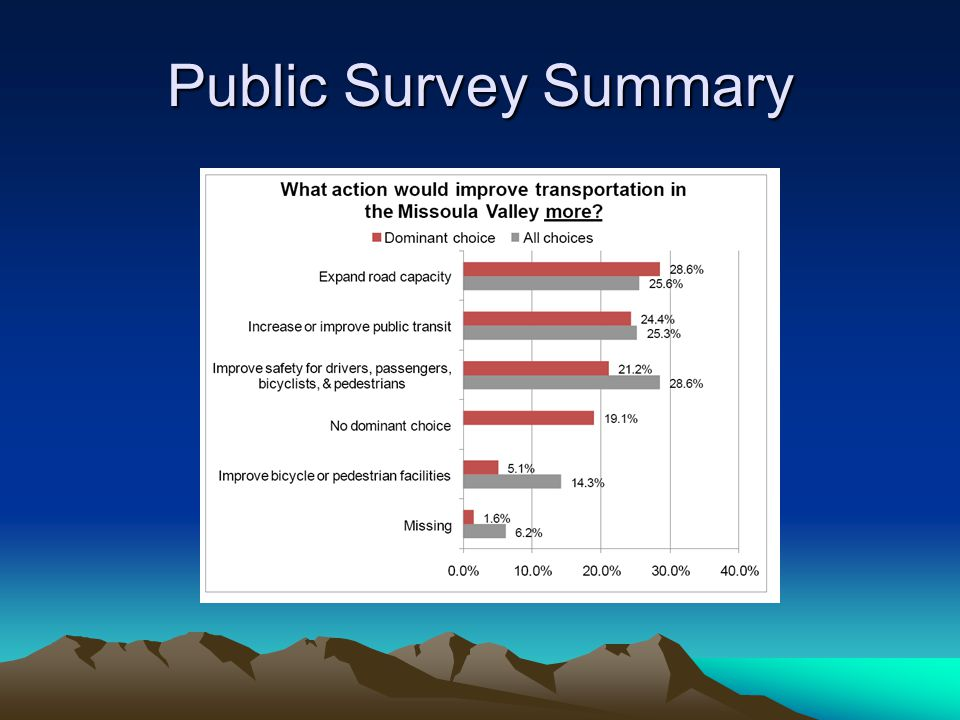 Public Survey Summary