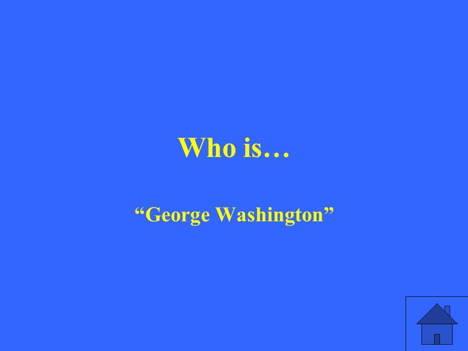 Who is… George Washington