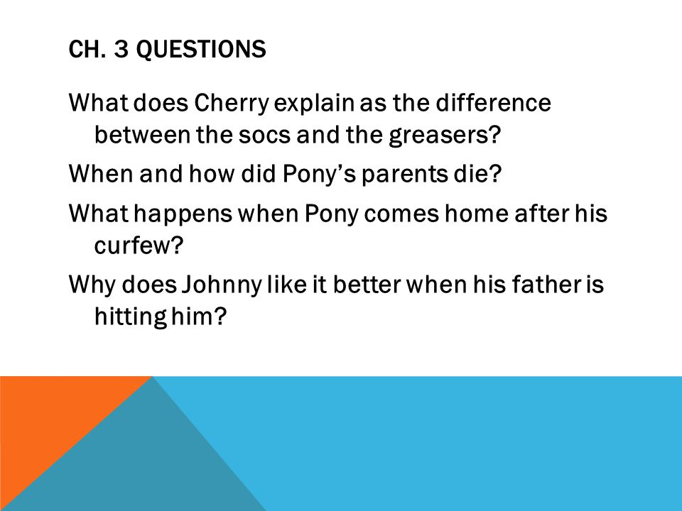 CH.4 QUESTIONS What major event happens in this chapter.