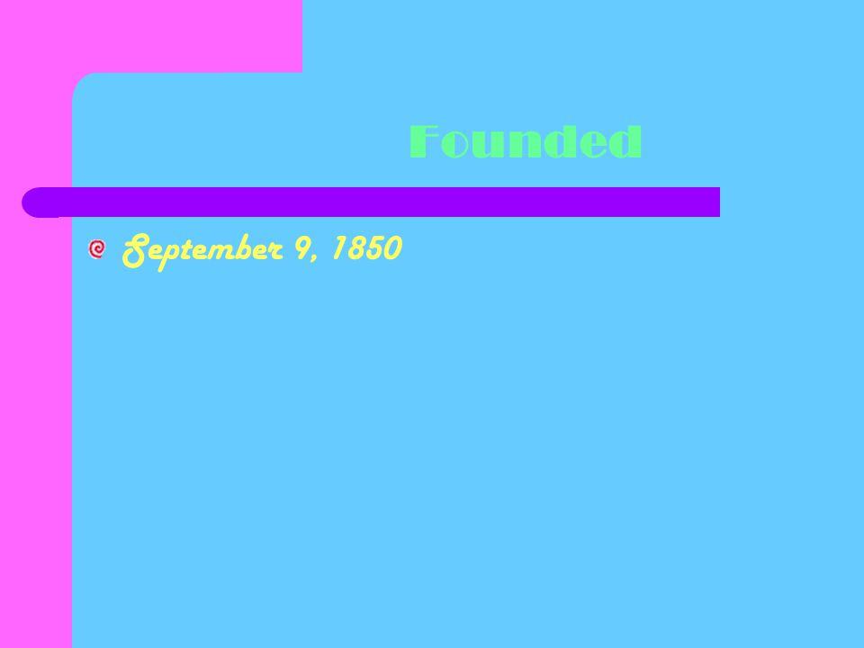 Founded September 9, 1850