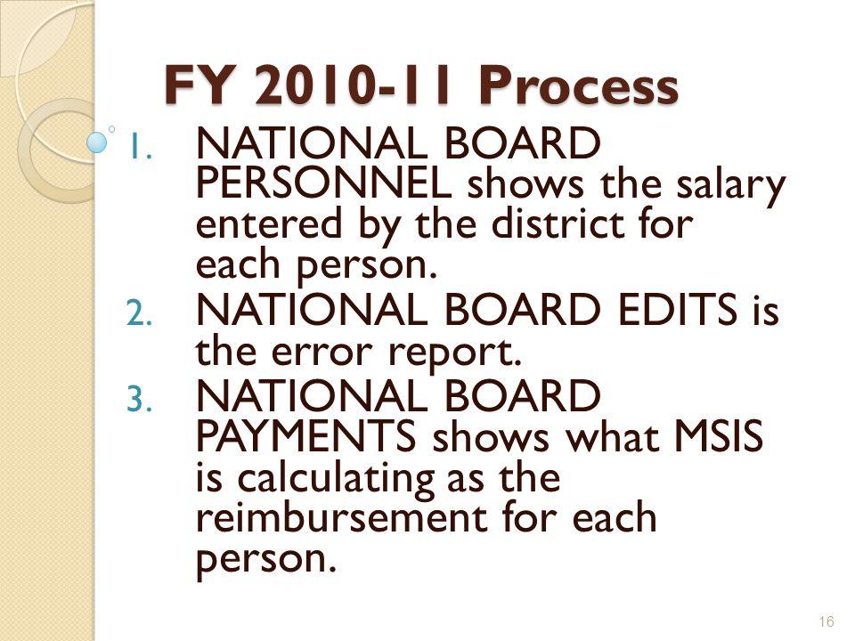FY 2010-11 Process 1.