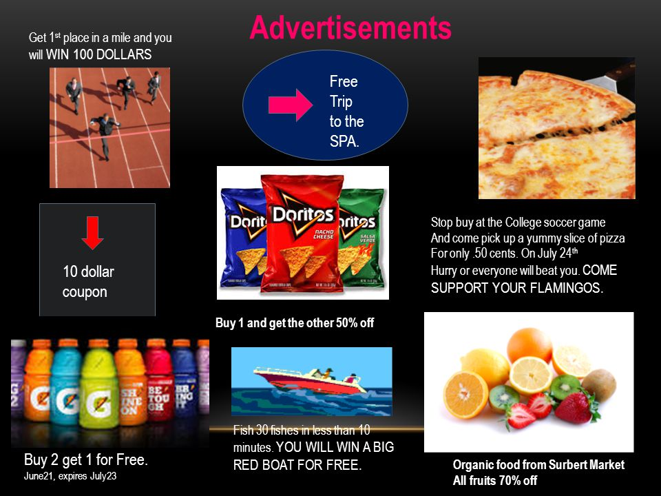 Advertisements 10 dollar coupon Buy 2 get 1 for Free.