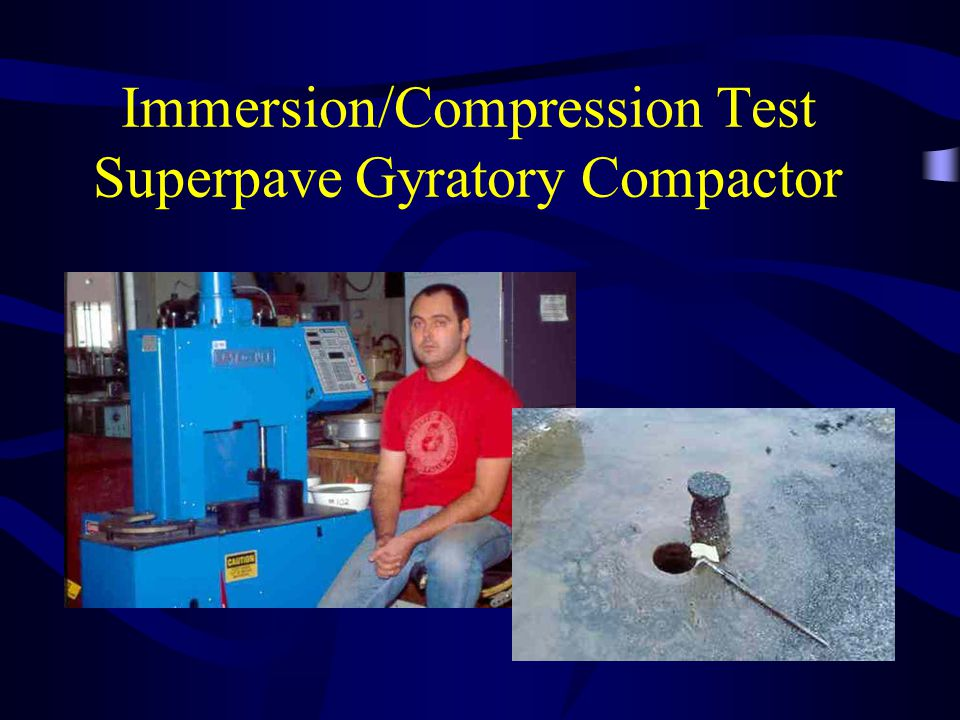 Immersion/Compression Test Superpave Gyratory Compactor