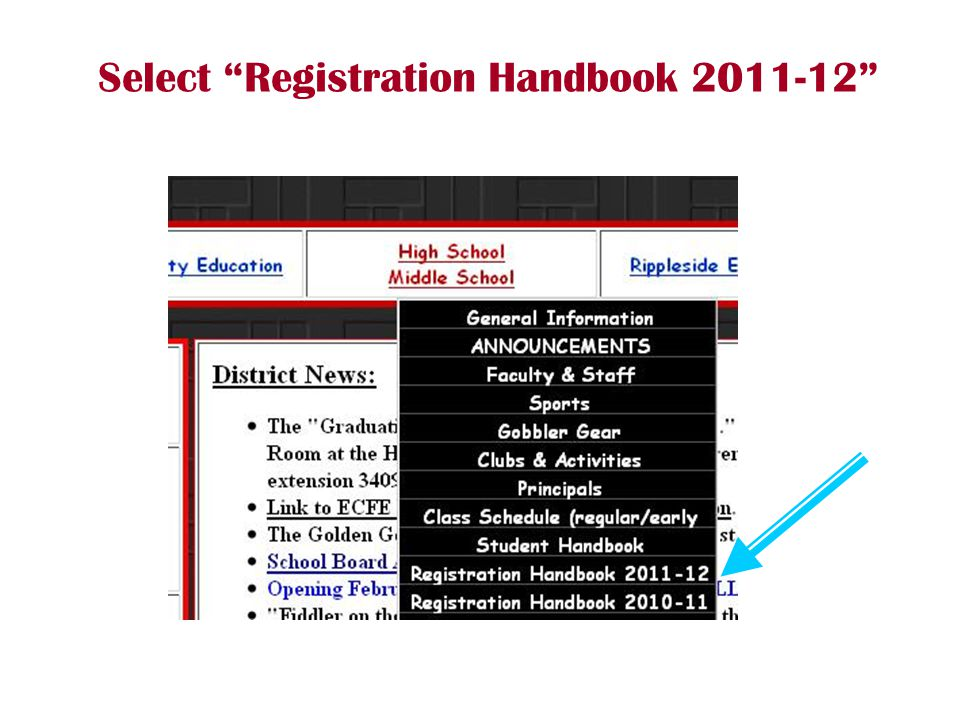 Select Registration Handbook 2011-12
