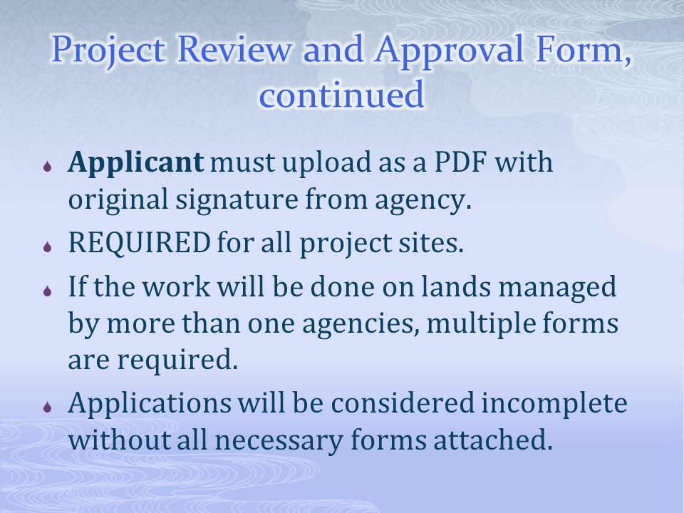  Applicant must upload as a PDF with original signature from agency.