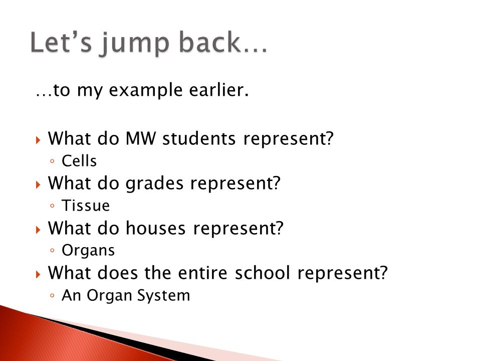 …to my example earlier.  What do MW students represent.