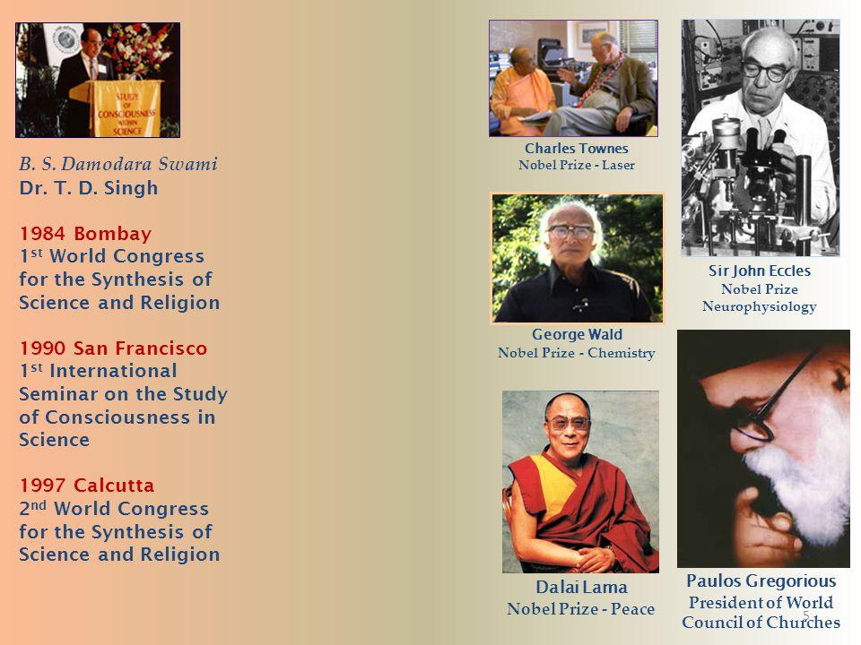 4 B. S. Damodara Swami Dr. T. D. Singh Bhaktivedanta Institute