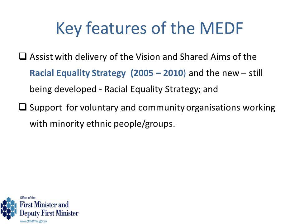  Three tiers of funding Tier 1 – Entry level MEDF - £100-£15,000 Deadline – 2pm on 31 December 2014 Tier 2 – Standard MEDF - £15,000 - £45,000 Deadline - 2pm on 11 March 2013 Tier 3 – High level MEDF - £45,000 - £75,000 Deadline - 2pm on 11 March 2013