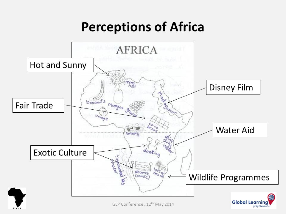 Perceptions of Africa Water Aid Disney Film Wildlife Programmes Exotic Culture Fair Trade Hot and Sunny GLP Conference, 12 th May 2014