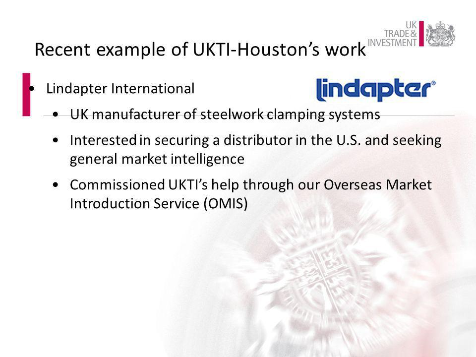 Lindapter International UK manufacturer of steelwork clamping systems Interested in securing a distributor in the U.S. and seeking general market inte