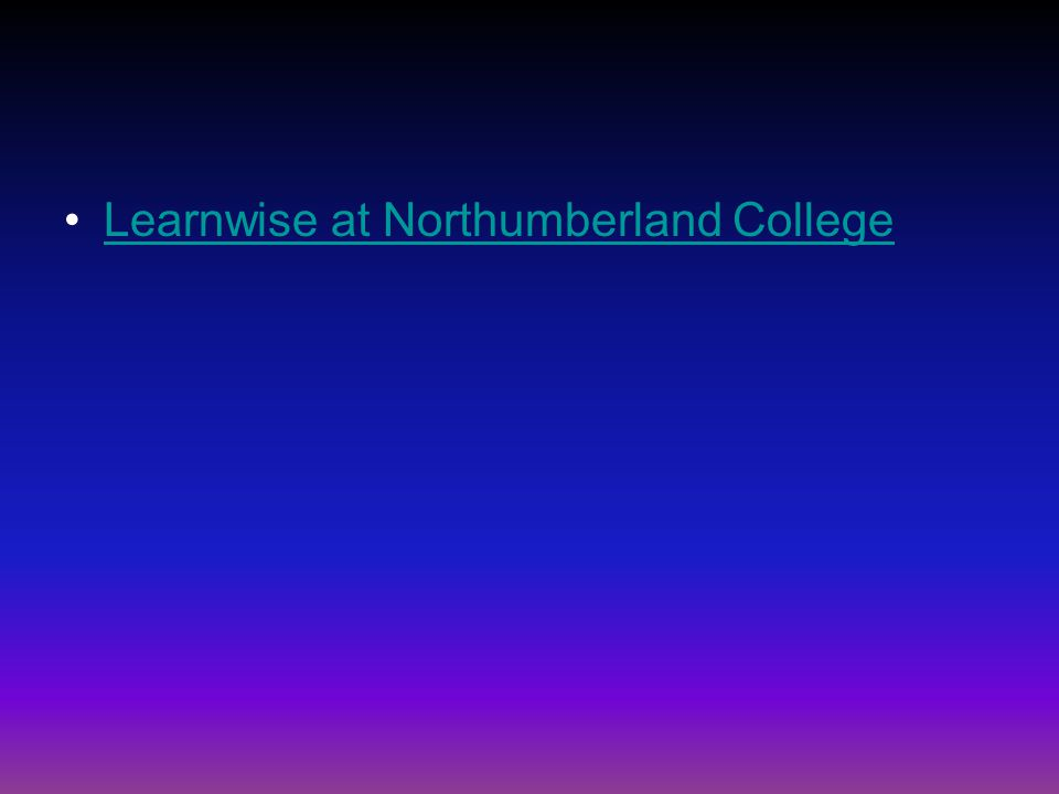 Learnwise at Northumberland College