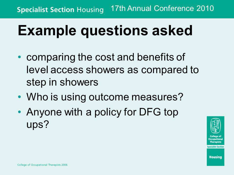 Example questions asked Modular build wheelchair accessible bedroom/ WC/ wetroom extensions.