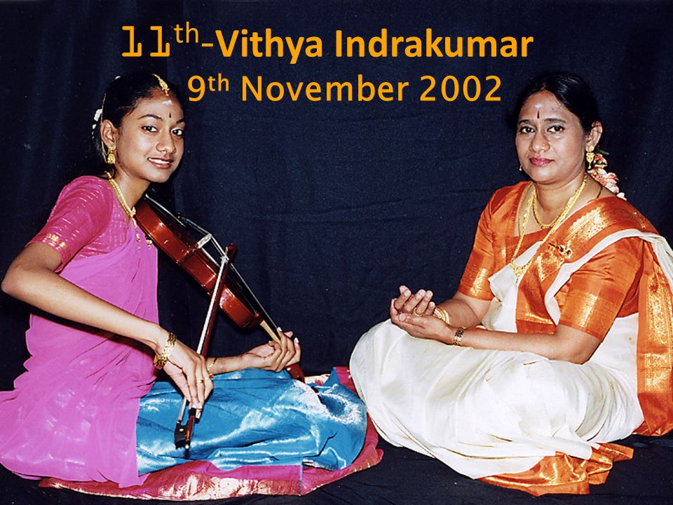 9 th November 2002 11 th - Vithya Indrakumar