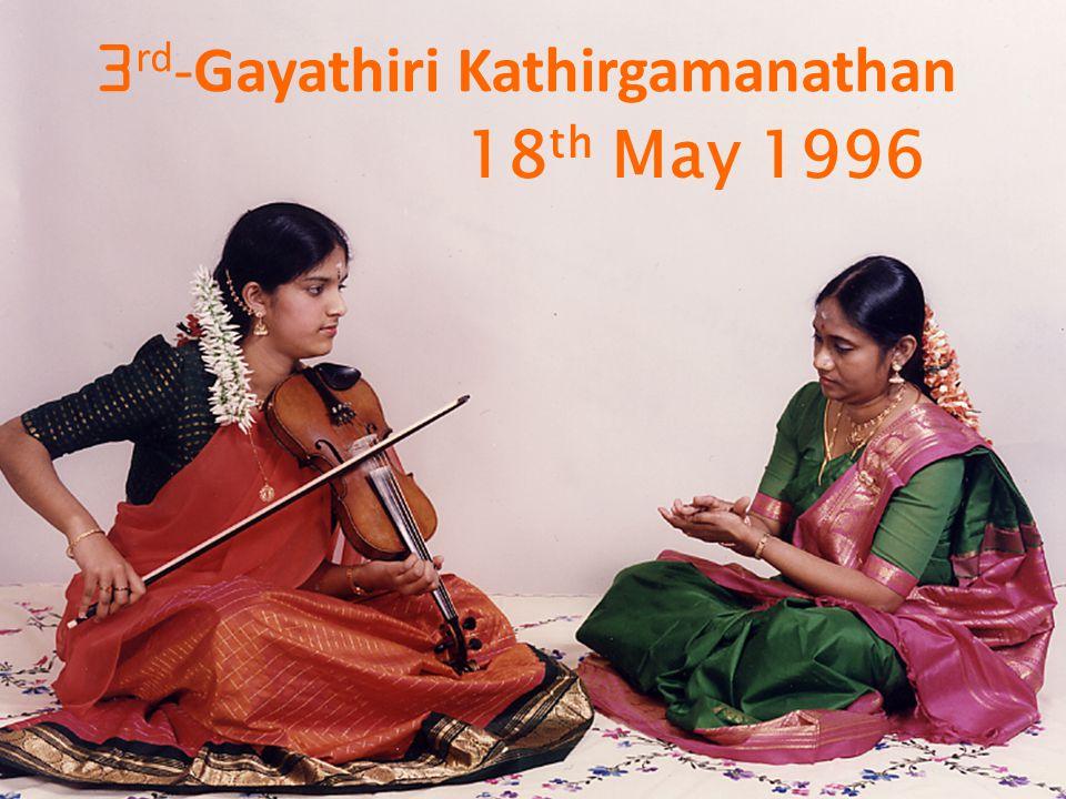 18 th May 1996 3 rd - Gayathiri Kathirgamanathan