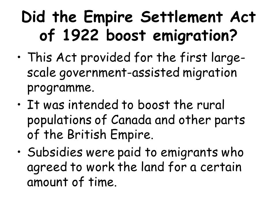 Emigration Lowland Scotland also saw the emigration of large numbers of skilled and talented labour – resulting from the depressed industrial areas of central Scotland.