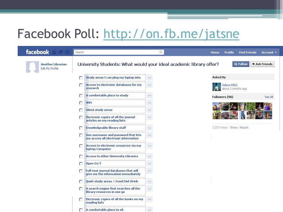 Facebook Poll: http://on.fb.me/jatsnehttp://on.fb.me/jatsne