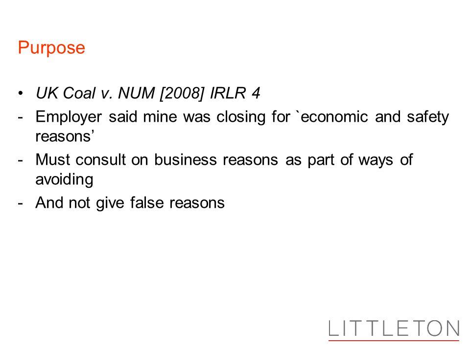 Purpose UK Coal v.