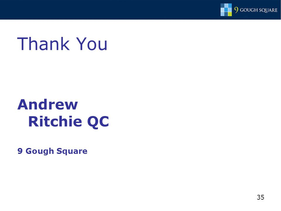 35 Thank You Andrew Ritchie QC 9 Gough Square