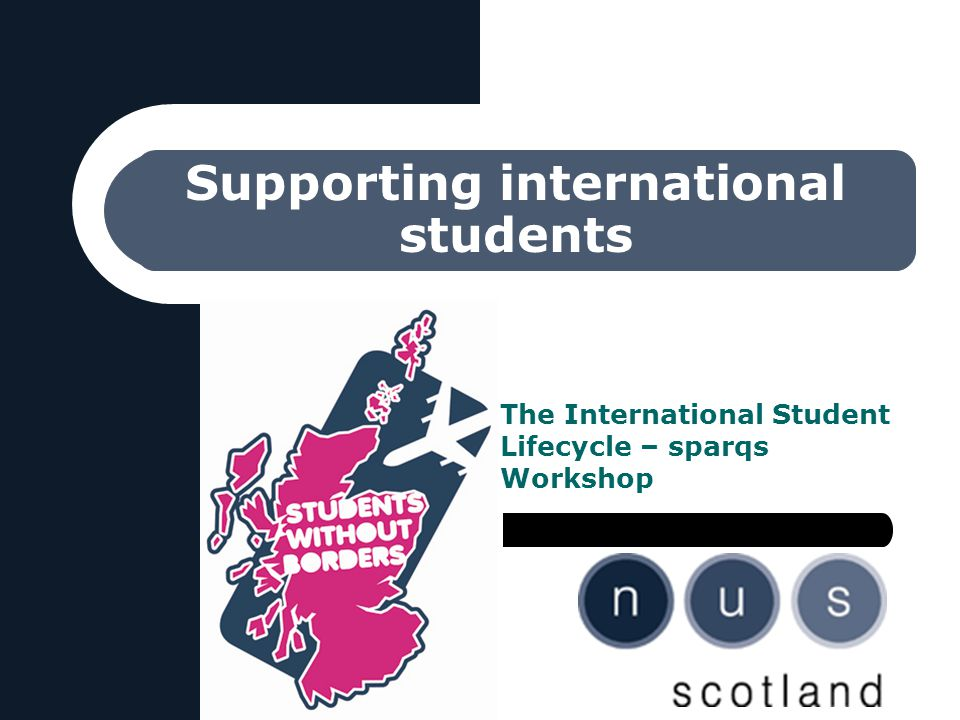 Supporting international students The International Student Lifecycle – sparqs Workshop