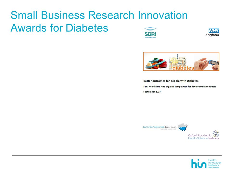 Small Business Research Innovation Awards for Diabetes