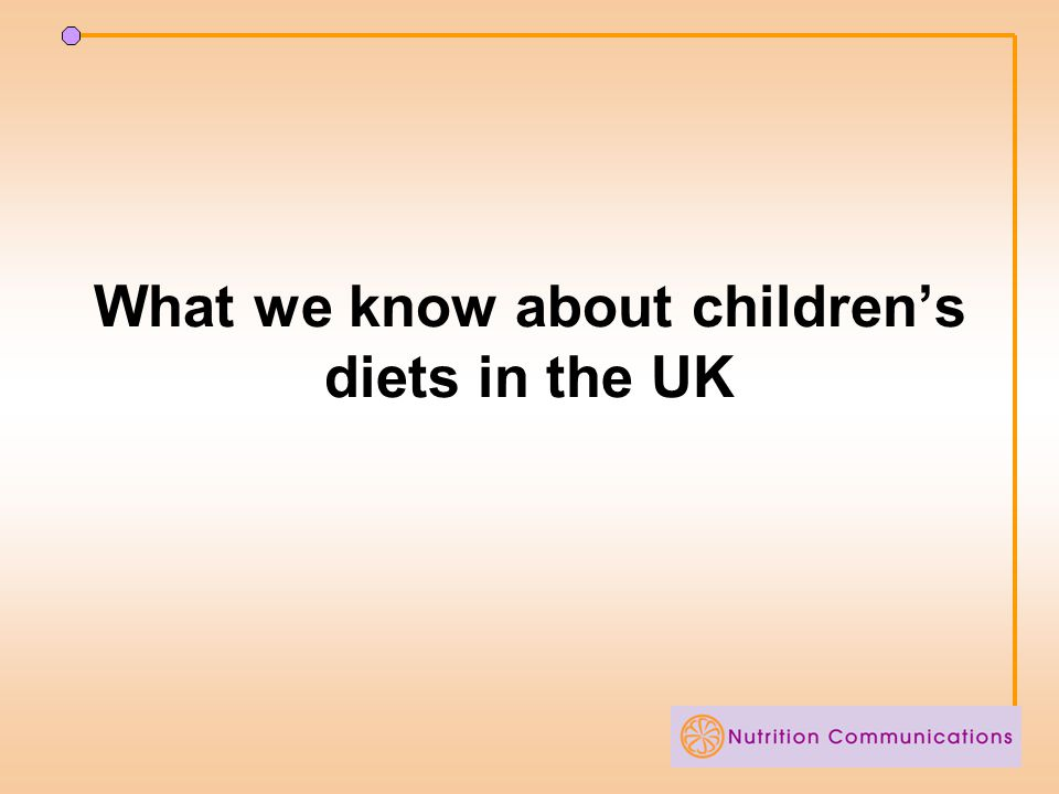 What we know about children's diets in the UK