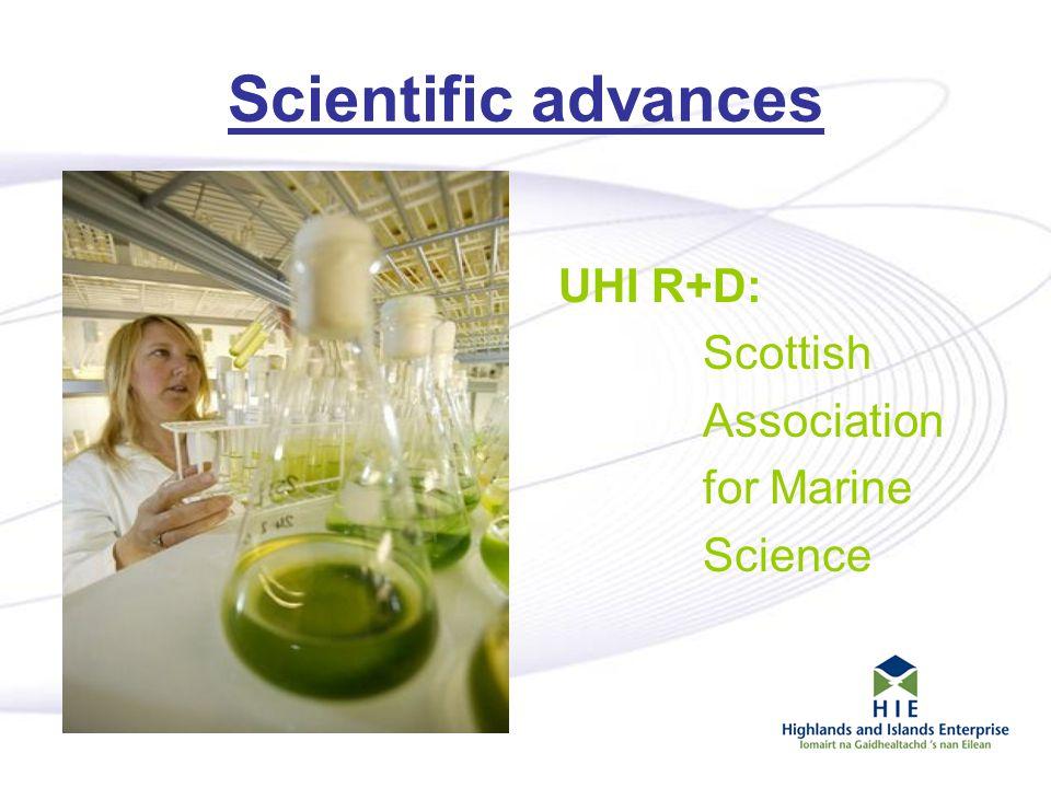 7 Scientific advances UHI R+D: Scottish Association for Marine Science