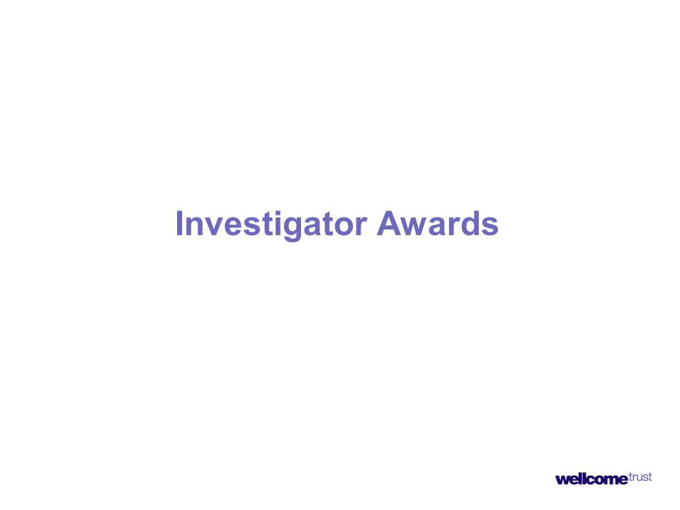 Investigator Awards