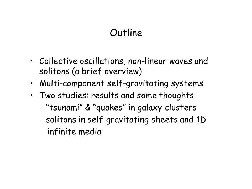 Solitons in self-gravitating sheets and 1D infinite media