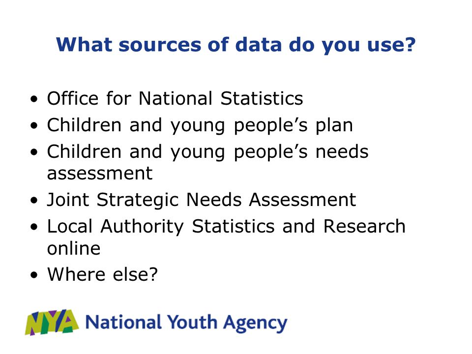 What sources of data do you use.