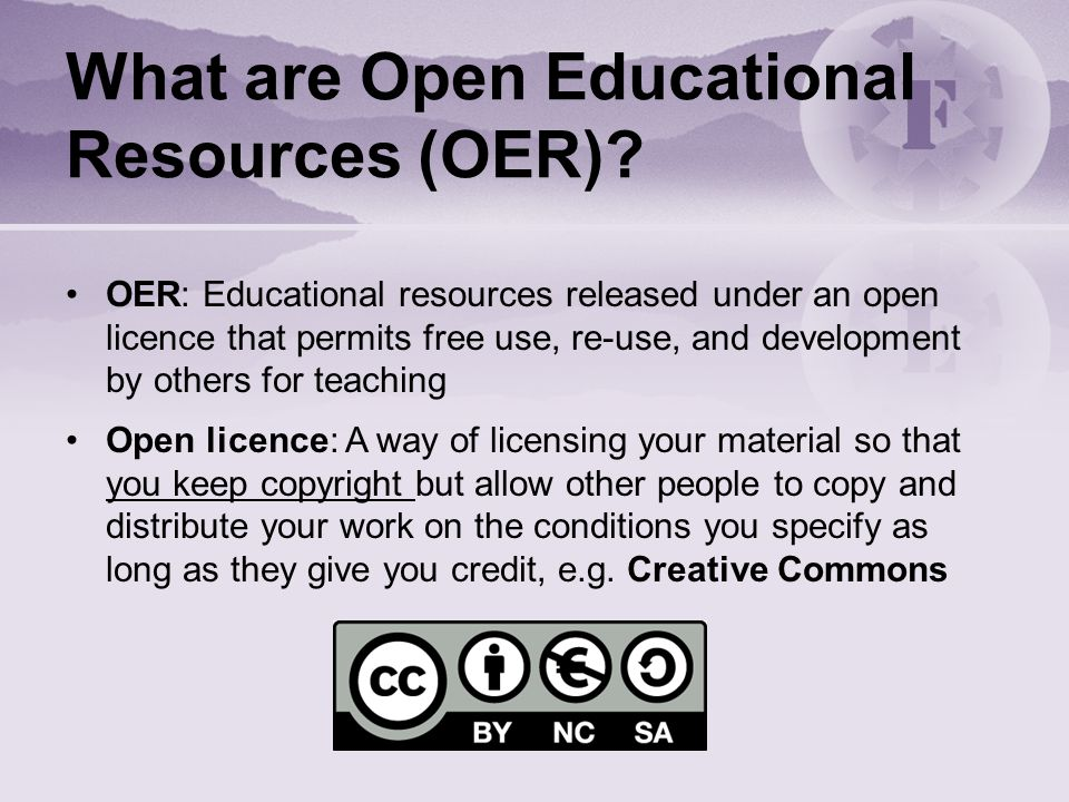 What are Open Educational Resources (OER).
