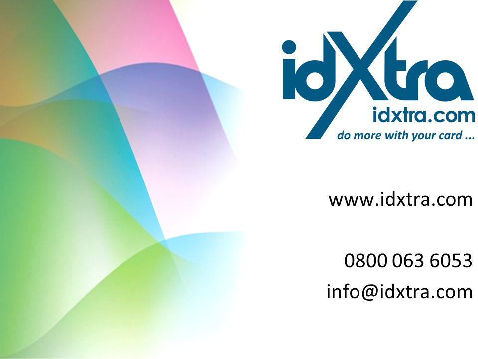 www.idxtra.com 0800 063 6053 info@idxtra.com