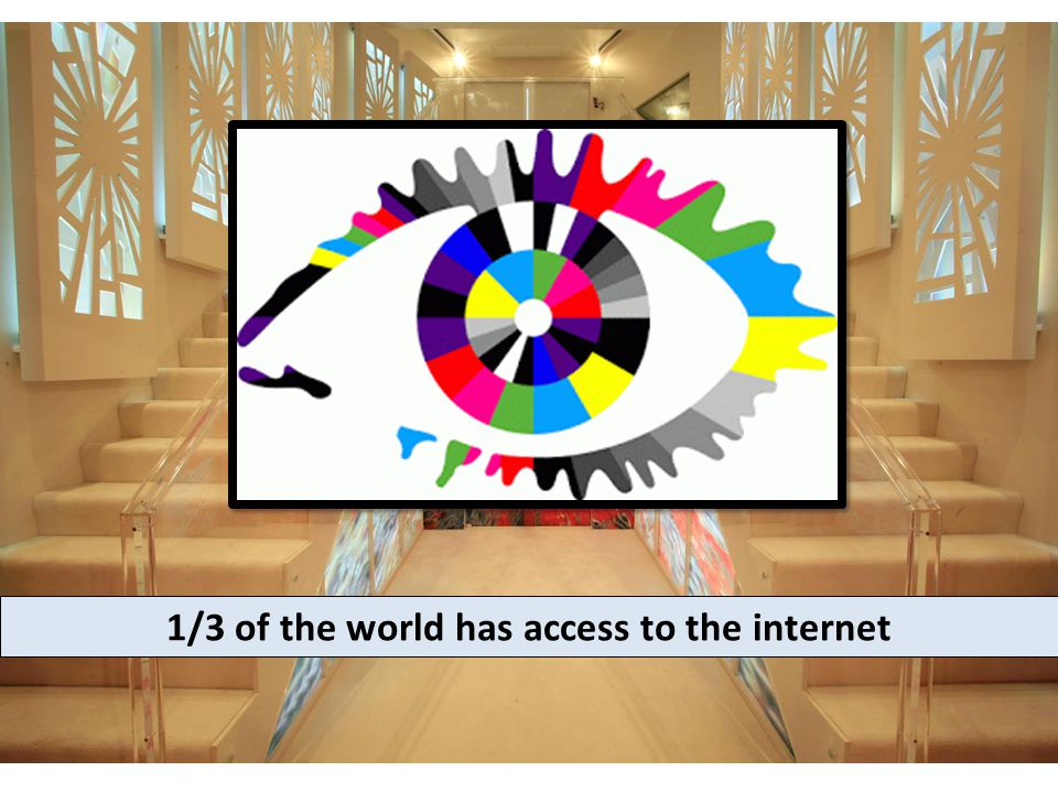 1/3 of the world has access to the internet